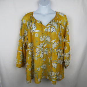 Suzanne Betro Floral Size 4x Flowy Top